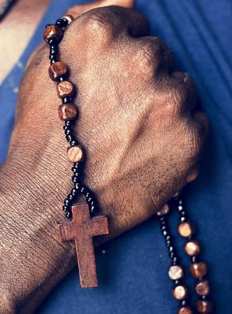 African man prayer faith in christianity religion Imagens - 100176116