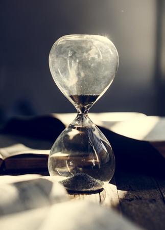 Sandglass on a table