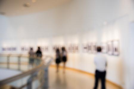 People enjoying an art exhibition