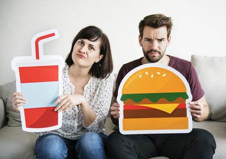 White couple with food icon