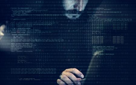 Diverse computer hacking shoot  Imagens