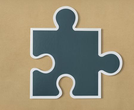 Jigsaw puzzle piece strategy icon Imagens