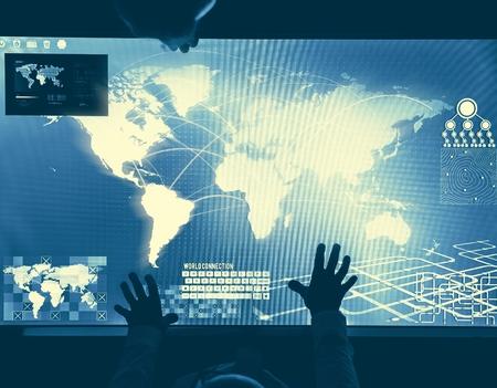 Futuristic global business 写真素材