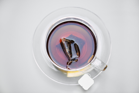 Aerial view of hot tea Stock Photo - 100101111