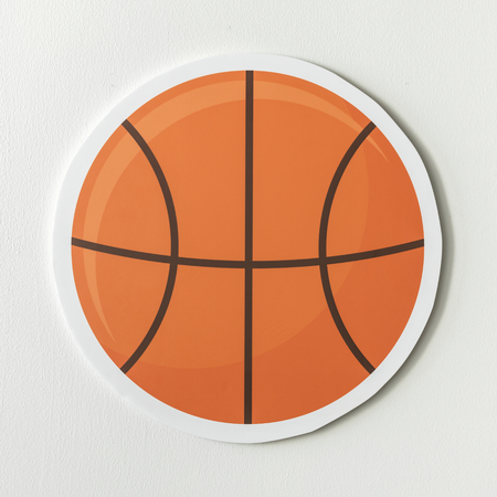Paper craft of a basket ball Standard-Bild - 100100697