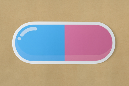 Capsule drug medicine pill icon 版權商用圖片