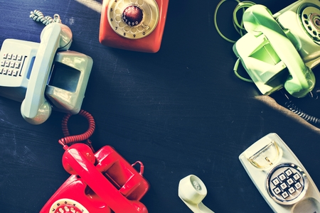 Ficha de teléfono de colores de época Foto de archivo - 100100607