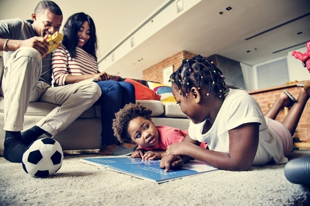 African family spending quality time together Stock Photo