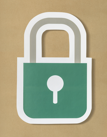 Privacy safety security lock icon Archivio Fotografico - 103168710