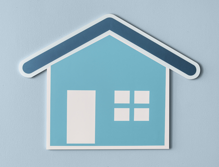 Home insurance cut out icon Imagens - 100083603