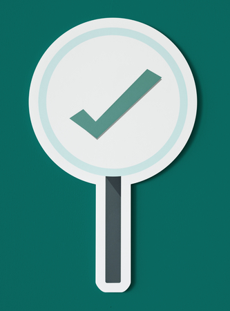 Right tick sign icon isolated Фото со стока - 100083672