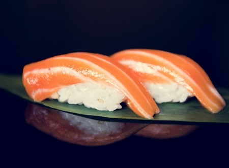 Salmon sushi japanese food healthy