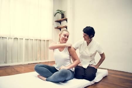 Woman taking a massage