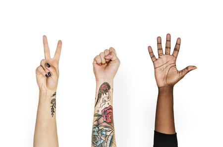 Hand hält Variation des Objekts