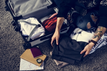 People packing for a trip