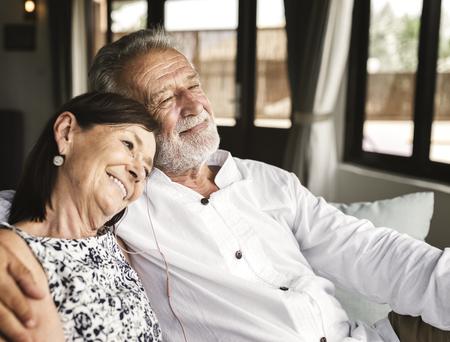 Mature couple vacationing at a resort 写真素材
