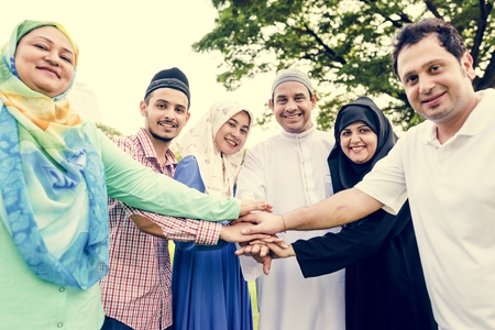 Muslim people with unity concept 写真素材