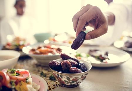 Comida Suhoor o Iftar del Medio Oriente Foto de archivo