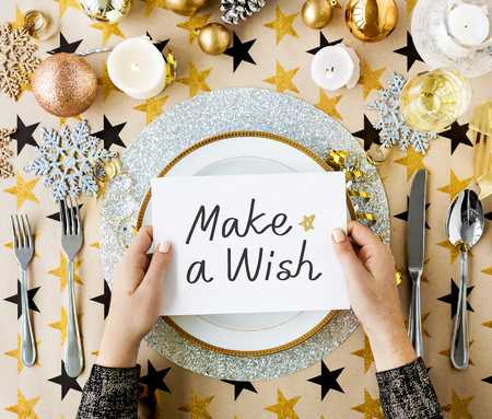 Make a Wish card and festive table settings