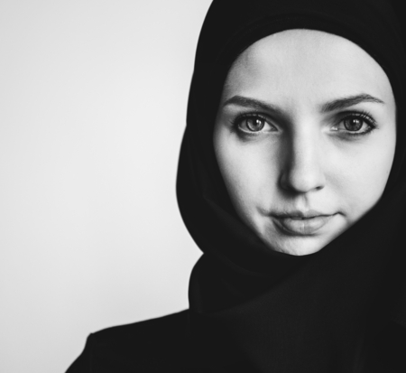 Portrait of a young Muslim woman Stock Photo