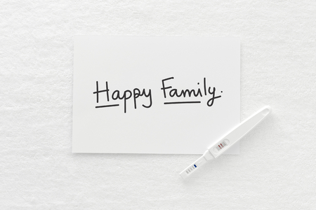 Pregnancy and Happy Family concept Stock Photo