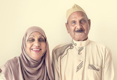 Senior Muslim couple at home 写真素材
