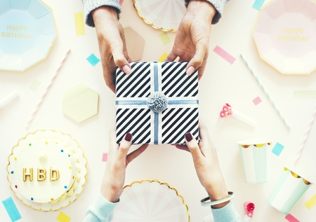 Flatlay of a birthday celebration