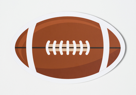 Paper craft of a football icon Foto de archivo - 102864081