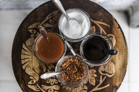 Closeup of Asian noodle seasoning set Stock fotó - 102864171