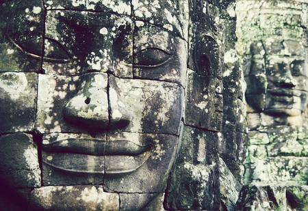 Buddha faces at Angkor Thom, Siem Reap, Cambodia