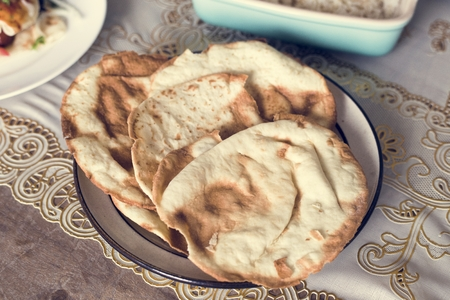 Close up of pita bread Stock Photo