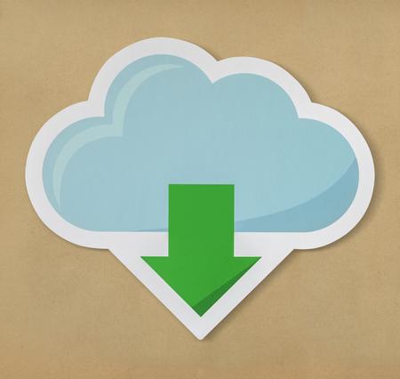 Cloud downloading icon technology graphic Reklamní fotografie