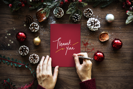 Christmas themed Thank You card Stock fotó