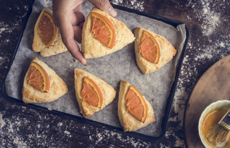 Homemade orange scone photography recipe idea