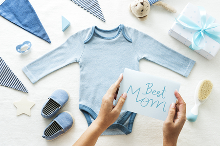 Baby shower thema Beste moeder kaart