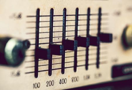 Gros plan d'un égaliseur de musique