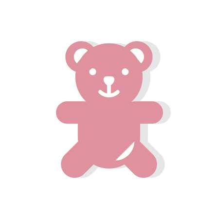 Teddy bear Valentines day icon Фото со стока - 103958248