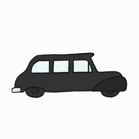 London's traditional black cab illustration Imagens - 103958505