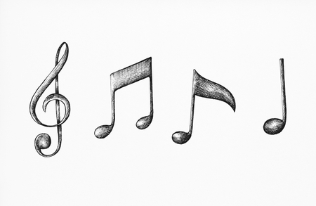 Hand-drawn music note illustration Фото со стока - 103958591