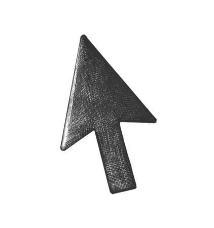 Hand-drawn arrow cursor illustration