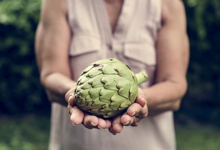 Fresh organic artichoke Stockfoto