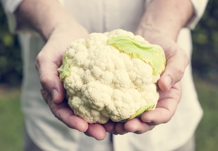 Fresh cauliflower vegetable