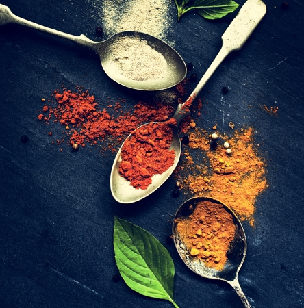 Cooking spices seasoning ingredients Stock Photo