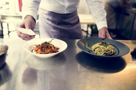 Cooked spaghetti Stockfoto