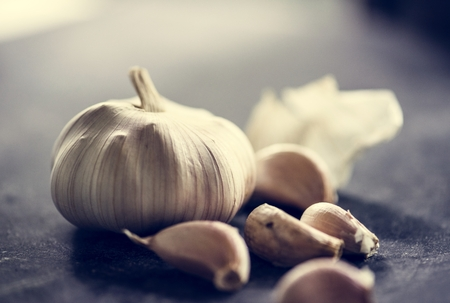 Fresh garlic cloves cooking ingredient