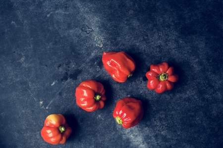 Closeup of sweet bell peppers