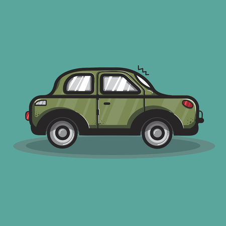 Sedan car transportation graphic illustration