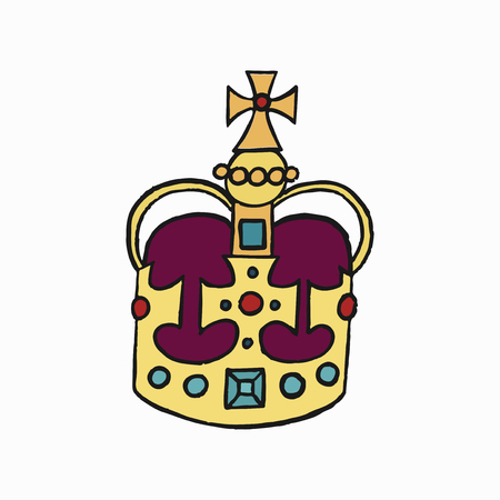 St Edward's Crown, one of the Crown Jewels of the United Kingdom illustration
