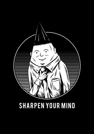 Sharpen your mind creative illustration
