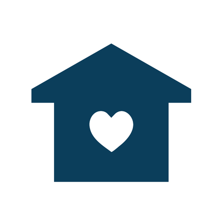 Happy family house icon illustration Stock Photo